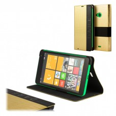FLIP COVER LUMIA 535 GOLD SKIN