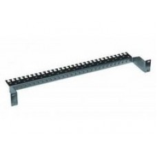 "19"" cable clamp bracket / earthing bar for patch panel, 2U"