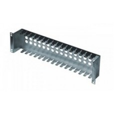 "19"" patch panel for LSA-PLUS modules, height 2 1/2 U, 16 positions, zinc pl.."