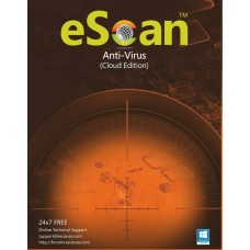 eScan Anti-Virus  with Cloud Security 3 user/1 year (For Windows)