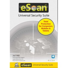 eScan Universal Security Suite (3-device License) - 1 year  (Multi-device Licens..