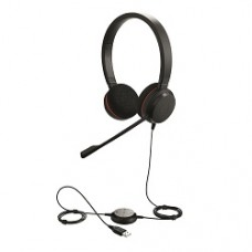 Слушалки с микрофон Jabra EVOLVE 20 MS Duo, Noise Cancelling, Microphone, USB