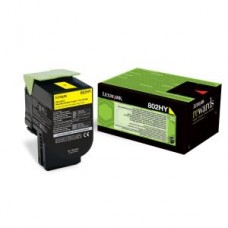 80C2HYE Yellow High Yield Return Program Toner Cartridge,3,000 pages,CX410/ CX51..