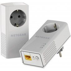 Адаптер Netgear POWERLINE 1200, Passthru, 1 Gigabit Port, комплект от 2 броя