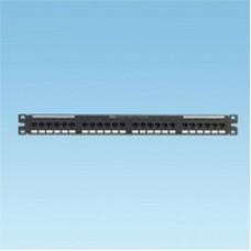 "19"" 24 port 1U NetKey™ Category 5e preloaded 110 style punchdown patch panel, RoHS complaint"