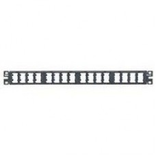 "19"" 32 Port 1U High Density Snap-In Modular Patch Panel, RoHS complaint"