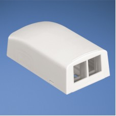 2 position surface mount box for NetKey™ modules international white, w/adhesive