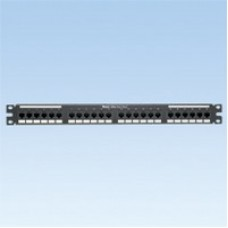 24 port, Cat 5e 110 punchdown, patch panel with 24 RJ45, 8 position, 8 wire port..