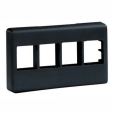 4 Module Snap-On Faceplate for 4 NetKey™ modules, black