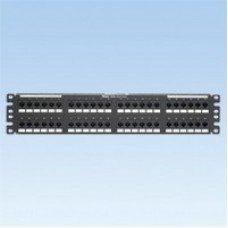 48 port, Cat 5e 110 punchdown, patch panel with 24 RJ45, 8 position, 8 wire port..