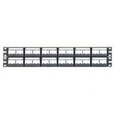 48 port patch panel with labels, supplied with 12 factory installed CFFPL4 type ..