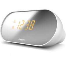 Philips Clock Radio Compact design Mirror-finished display, Dual alarm, Gentle w..