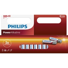 Philips Power Alkaline LR03 AAA 12-wide multi pack
