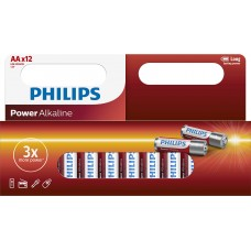 Philips Power Alkaline LR6 AA 12-wide multi pack