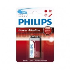 Philips Power Alkaline батерия 9V (E), 1-blister