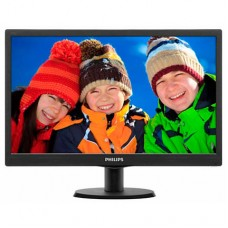 "Philips 18.5"" Slim LED 1366x768 HD 16:9 5ms 10 000 000:1 VGA, VESA, Piano b.."