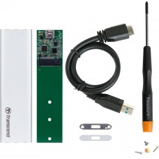 Кутия за SSD M.2 2280/2260 Transcend USB 3.1 M.2 SSD upgrade kit, Silver