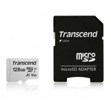 Памет Transcend 128GB UHS-I U3 V30 A1 microSDXC I, Class10 with Adapter, read: u..